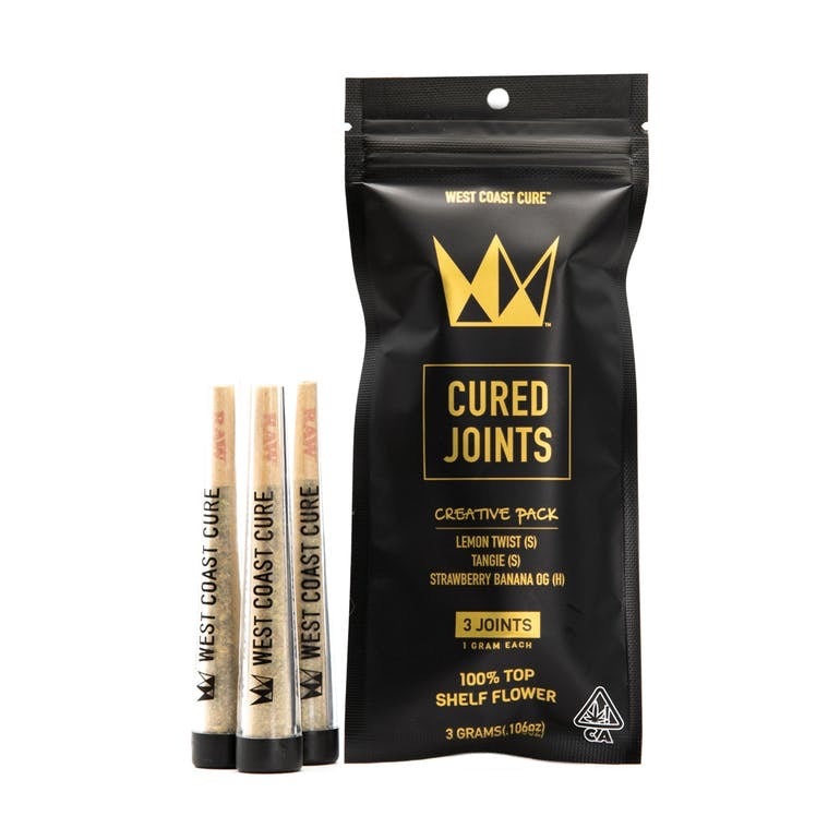 Creative Pack | 3 x 1G Joints (3.0G) | West Coast Cure
