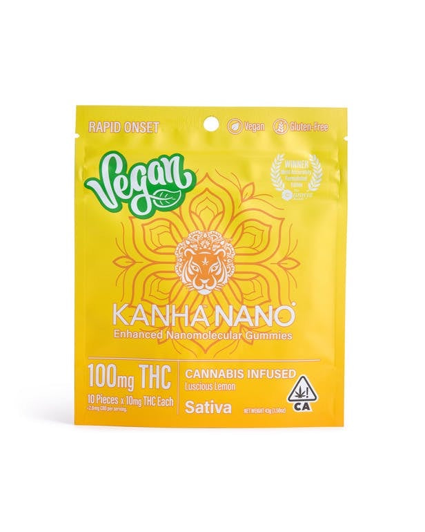 Luscious Lemon | Sativa *Nano* 100MG Gummies | Kanha