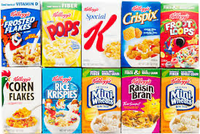 Cereal Kellogs Mini Boxes