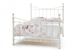 Ivory Ethan Metal Bed Set + 2 Free Pillows - Bennetts Bedrooms