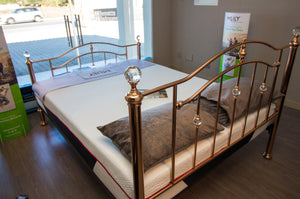 Rose Gold Metal Frame Bed Set - Bennetts Bedrooms