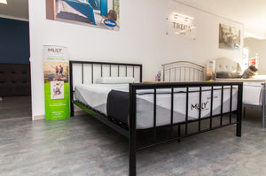 Modena Black Metal Bed Frame Set - Bennetts Bedrooms