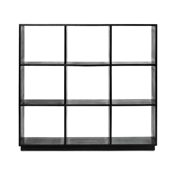 Pigeon Hole Bookcase 3x3 — Black - Empire Homewares