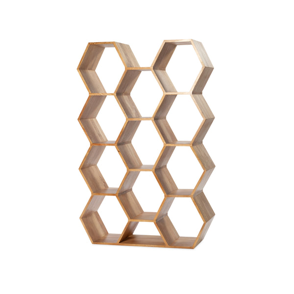 Honeycomb Bookcase — Natural - Empire Homewares