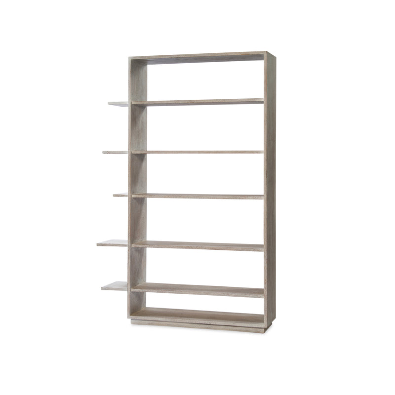 Yuli Bookcase — White Wash - Empire Homewares