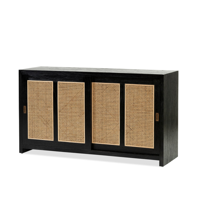 Bianca Buffet — Black/Rattan - Empire Homewares