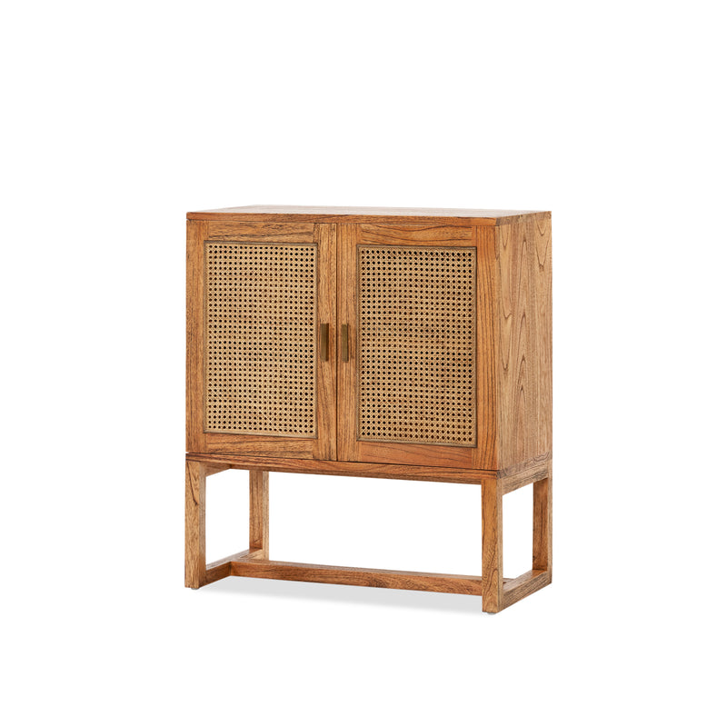 Rita 2 Door Buffet — Antique/Rattan - Empire Homewares