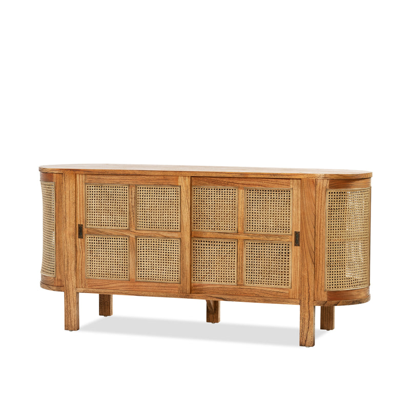 Sergio Buffet — Antique/Rattan - Empire Homewares