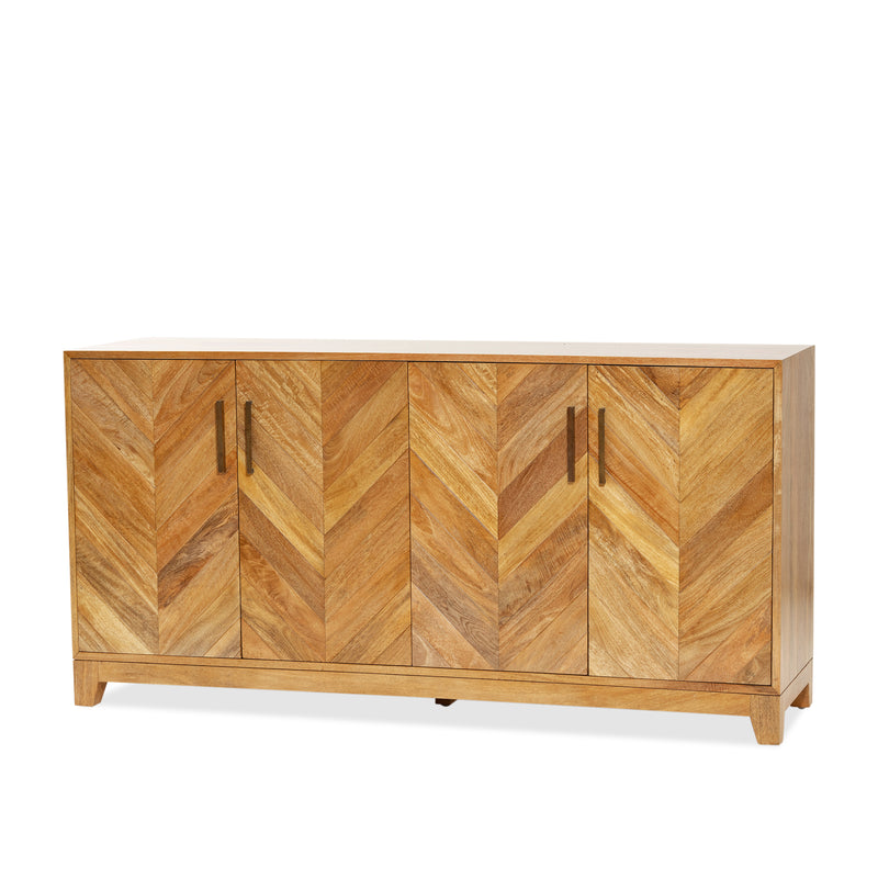 Tapestry 4 Door Buffet — Natural - Empire Homewares