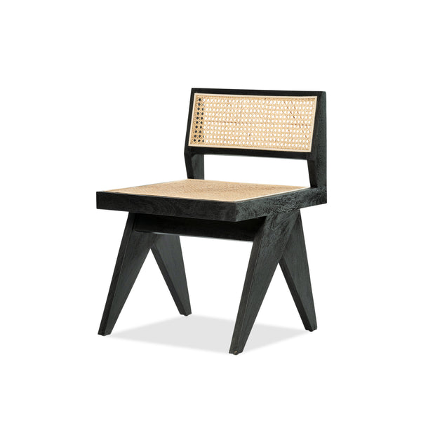 Belagio Chair — Black/Rattan - Empire Homewares
