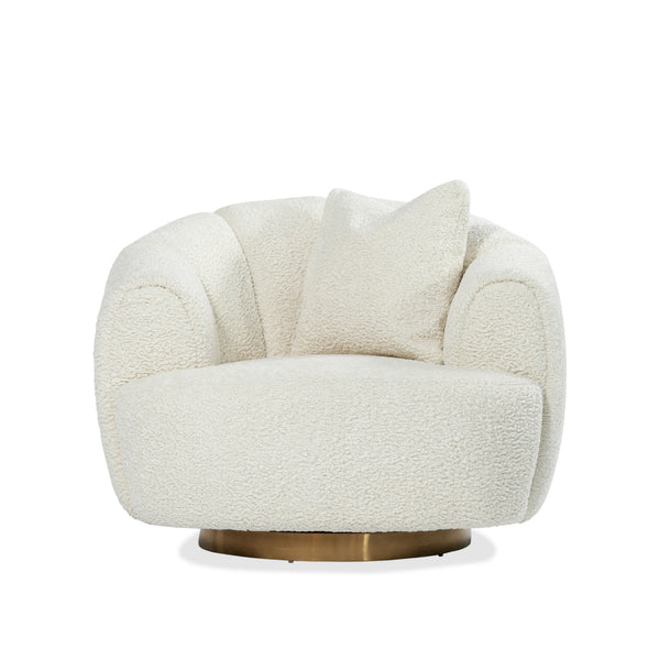 Celine Swivel Chair — Cream - Empire Homewares
