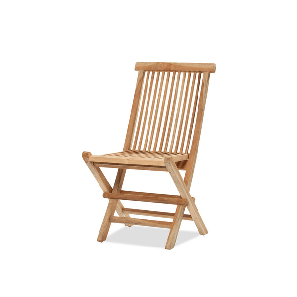 Teak Folding Chair — Raw - Empire Homewares