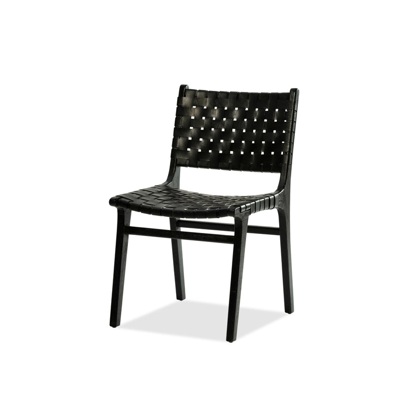 Vogue Chair — Black / Black Leather - Empire Homewares