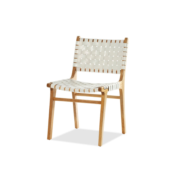 Vogue Chair — Natural / White Leather - Empire Homewares