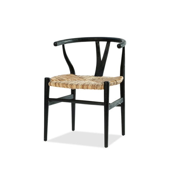 Wishbone Chair — Black/Rattan - Empire Homewares
