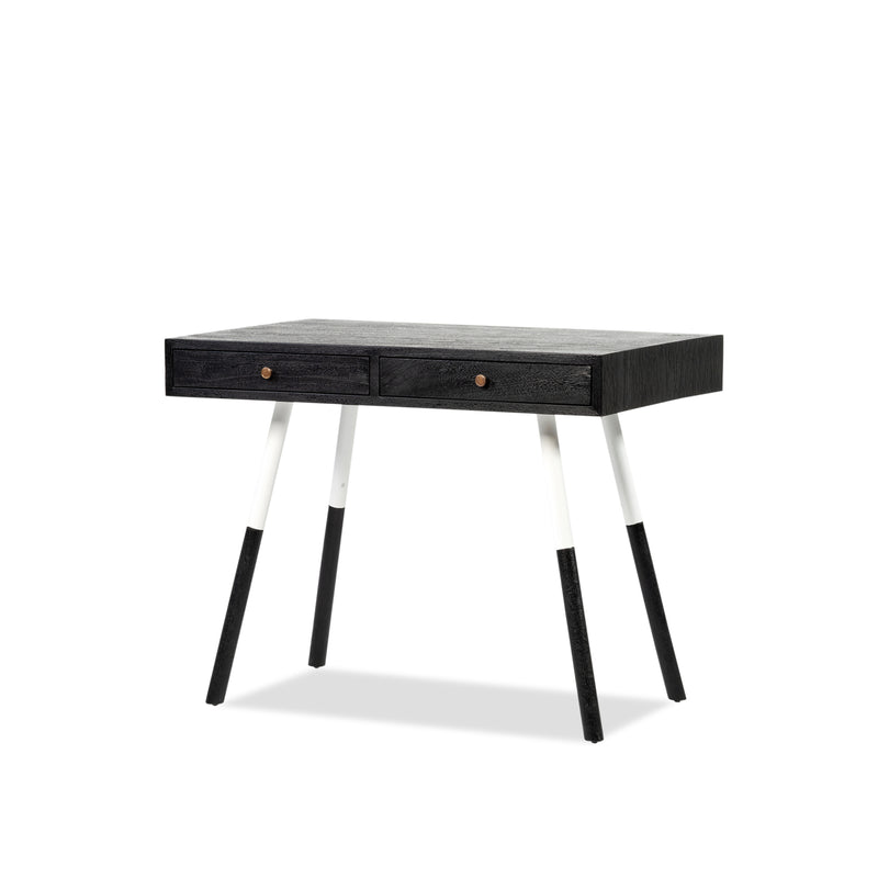 Cortina 2 Drawer XS Desk — Black - Empire Homewares