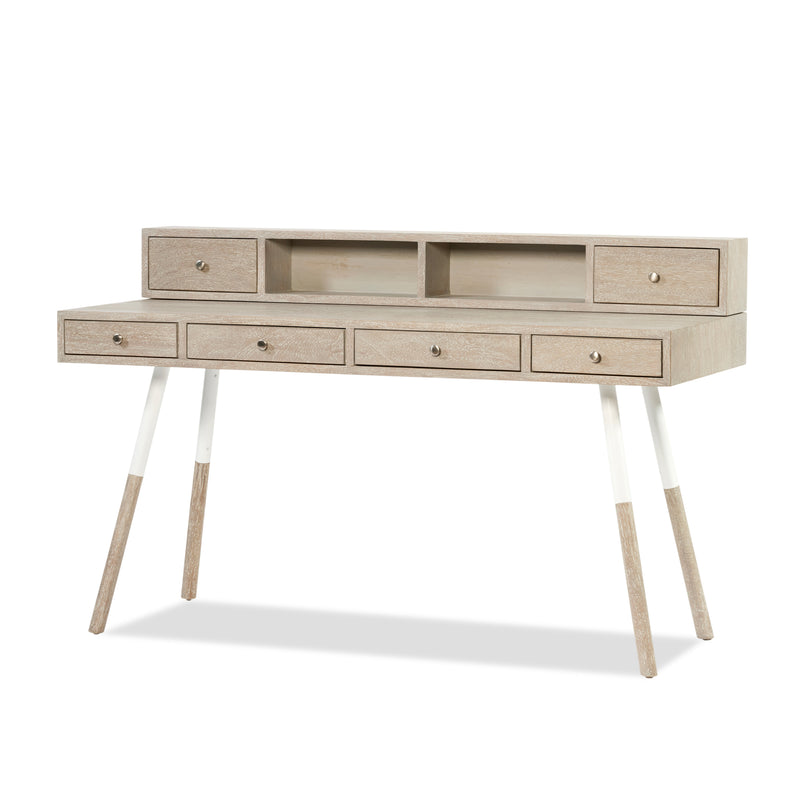 Cortina Storage Desk — Grey - Empire Homewares