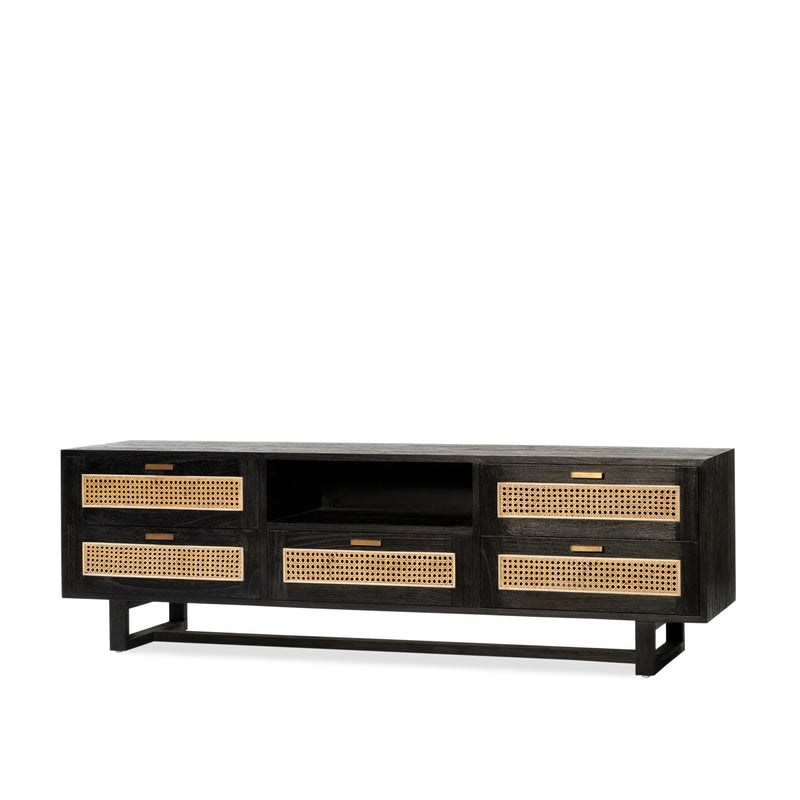 Fitzgerald Entertainment Unit 2x3 — Black - Empire Homewares