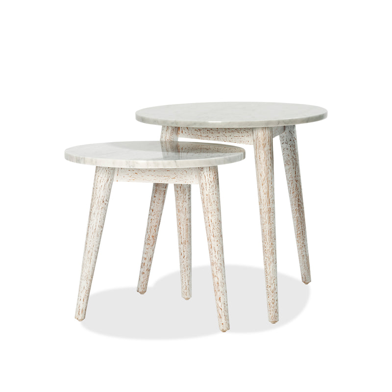 Destiny Side Table — White Wash - Empire Homewares