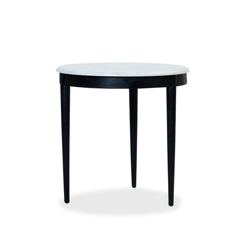 Flamingo Side Table — Black/Marble - Empire Homewares