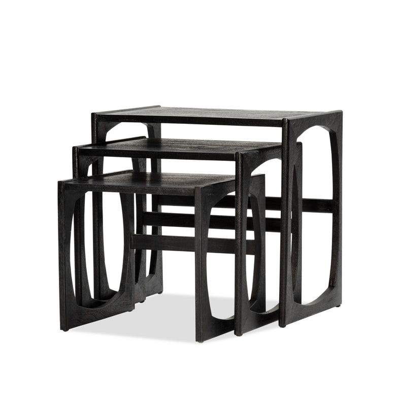 Halo Nest Side Table — Black - Empire Homewares