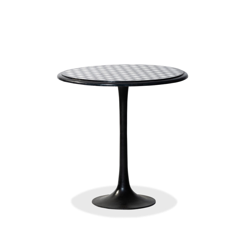 Iron Marble Side Table — Black/White - Empire Homewares