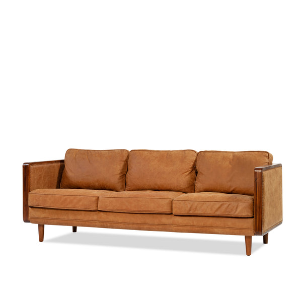 Nadia Sofa —Tan/Leather - Empire Homewares