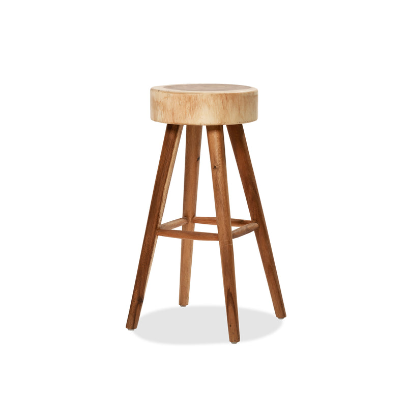 Large Organic Meh Stool — Raw - Empire Homewares