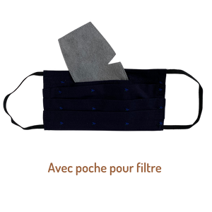 Masque lavable 3 plis Made in France  - 100% coton