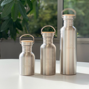 Gourd in Stainless steel and Bamboo - Lasting and ultra-resistant - Light and transportable