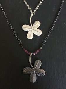"""A Little Luck"" julep clover necklace -Large pendant"