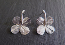 "Load image into Gallery viewer, ""A Little Luck"" clover short stem post earrings"