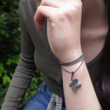 "Load image into Gallery viewer, ""A Little Luck"" clover bracelet/necklace"