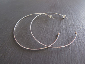 Large Forged Berry Hoops- Sterling Silver