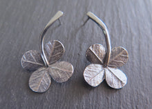 "Load image into Gallery viewer, ""A Little Luck"" clover long stem post earrings"