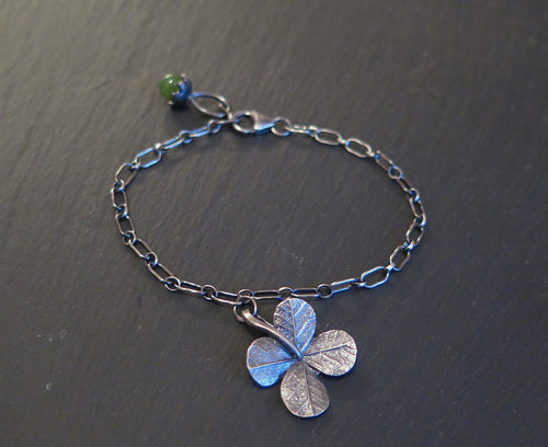 Good Luck Clover Charm Bracelet