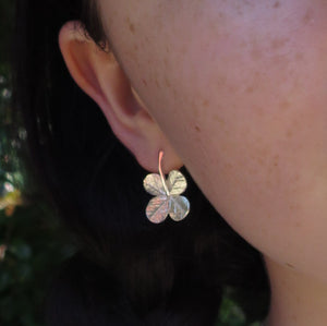 """A Little Luck"" clover short stem post earrings"