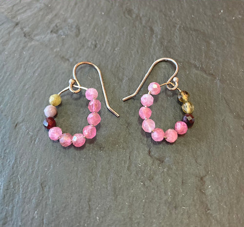 Tourmaline tear drop earrings