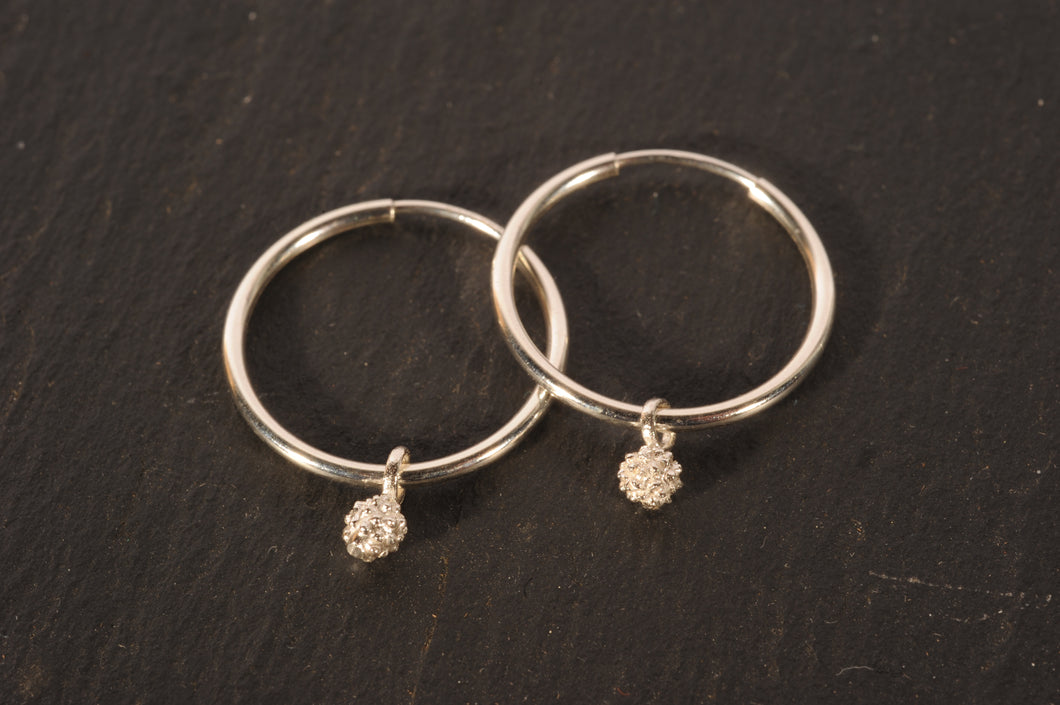 waxberry simple hoops- silver