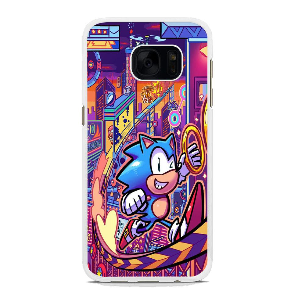 Sonic World Wallpaper Samsung Galaxy S7 Edge Case Debreon