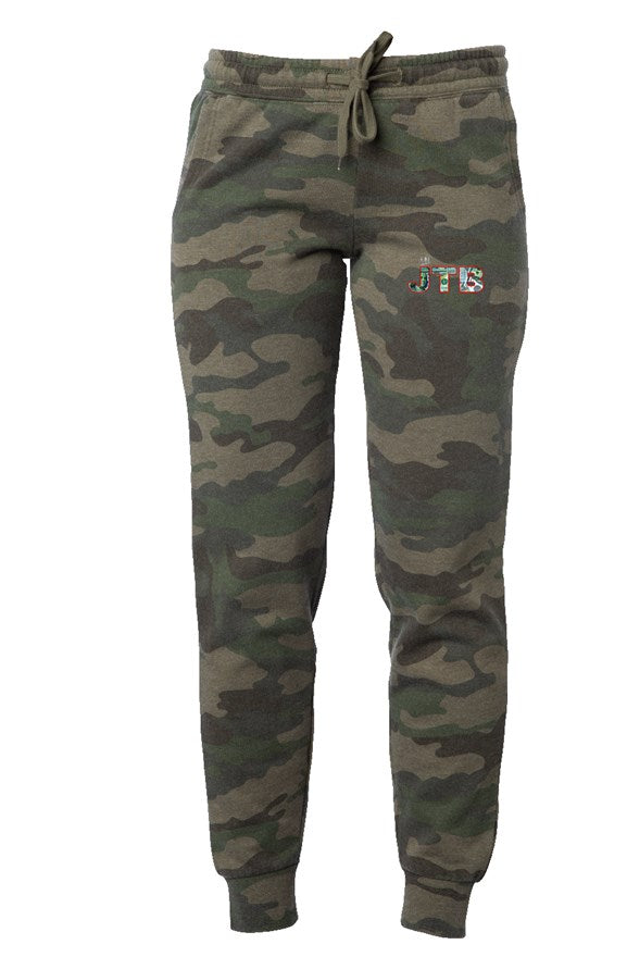 Womens Camo Wash Sweatpants