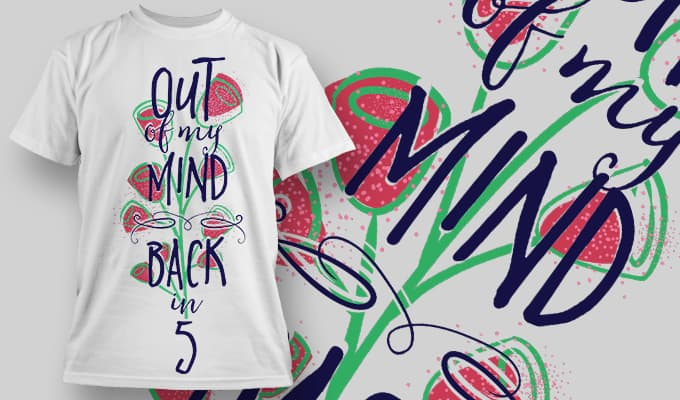 Out of my mind Back in 5 - T-Shirt - Shirto.nl