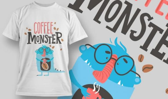 Coffee Monster - T-Shirt - Shirto.nl