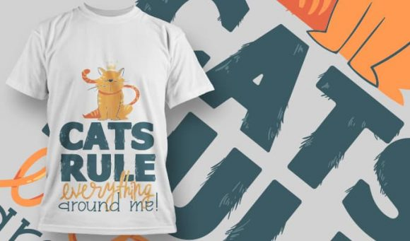 Cats rule everything around me - T-Shirt - Shirto.nl