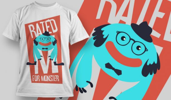 Rated M for monster - T-Shirt - Shirto.nl