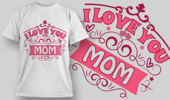 I Love you Mom - T-Shirt - Shirto.nl