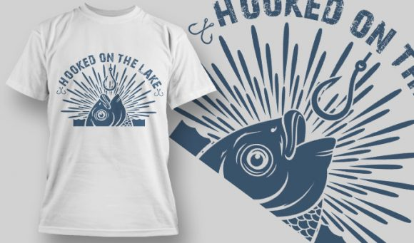 Hooked on the Lake - T-Shirt - Shirto.nl