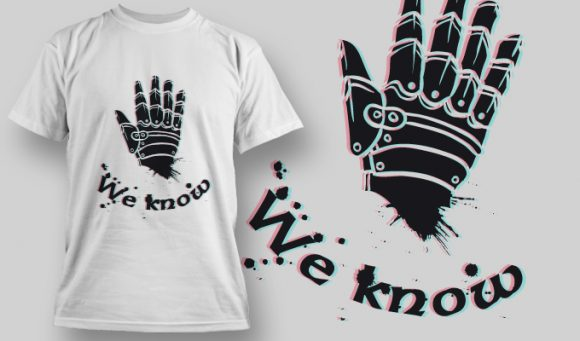 We know - T-Shirt - Shirto.nl