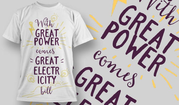 Great power - T-Shirt - Shirto.nl