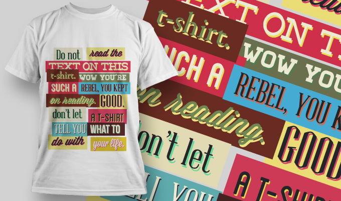 Don't read the text on this shirt... T-Shirt - Omega Design